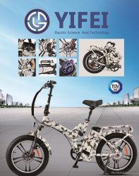 Yifei Adult Mini Cheap Full Suspension 20 Inch 250W 48V MID Drive Folding FAT Tire Electric Bike