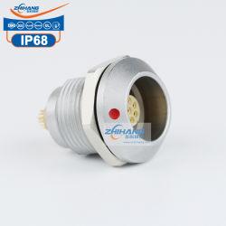 K 시리즈 Zgg 고정식 소켓 메탈 쉘 골드 팔라드 쿠퍼 방수 커넥터 푸시 풀 커넥터