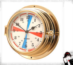 180mm가 항해 라디오 룸 시계 금관 악기 상자에 의하여 다이얼을 돌린다