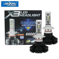 Lmusonu X3 H7 LED 헤드라이트 25W 6000lm 차 LED 자동차 빛