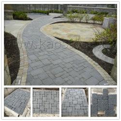 Natürliche graue Steinziegelsteine für Straßenbetoniermaschine/Fahrstraße/Garten