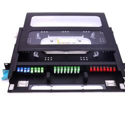 Fach 19 Zoll-Faser-Optikänderung- am objektprogrammpanel mit transparenter Haustür u. Deckel