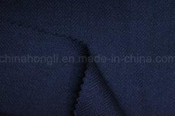 Fils teints de rayonne de poly/tissu à armure sergé, chevrons, 210gsm