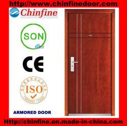 Porta blindada com certificado CE Steel-Wood (CF-M004)