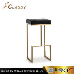 Carmindy Taburete de la barra de acero inoxidable con acabado cepillado bronce asientos PU