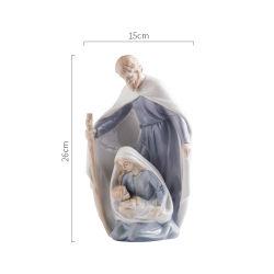 Ornement de Saints Catholiques Madonna Christian Jésus Statue de la famille