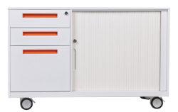 大きい記憶空間の現代オフィスの金属の移動式容器のキャビネット