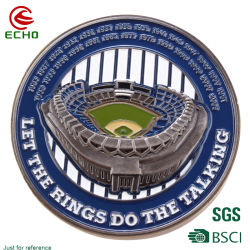 China Fabrikanten Custom Metal Craft 3D Logo Military Challenge Coin Honor Laser Marking name Tag souvenir munten