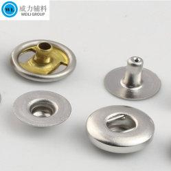 زر المصنع Hot Sales Custom Metal/ Brass/Alloy Spring Snap مع أي ألوان للملابس / المعادن زرا Ring Snap Press لملحقات الملابس