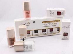 Boîtes de cadeau faites sur commande de vernis à ongles d'impression avec la fenêtre de PVC
