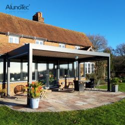 Tuin gemotoriseerde zonneklep dak waterdichte tent voor buiten Aluminium zonnescherm Prieel