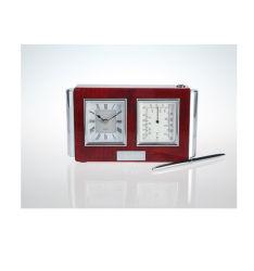 Horloges en bois rectangulaire en bois de rose avec stylet