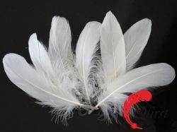 Penacho de mejor calidad al por mayor de la artesanía blanqueada a granel Ganso Blanco Nagoire plumas sueltas