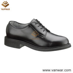 Noi Black Leather Military Officer Shoes per Army Soldiers (WMS001)
