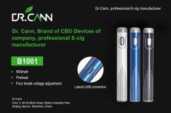 Evod Plus-S Vape-batterij 900 mAh batterijen 510 Thread-batterij voor THC CBD Olie Vape Cartridge Vape Mod E-Cig VS EGO