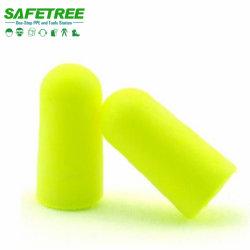 Safetree marcação EN352 espuma de PU Snr 33dB tampões de ouvido sem fio PPE Almofadas de protecção protecção auditiva