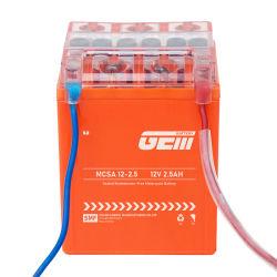 il potere attivato fabbrica libera intelligente di manutenzione di Mf del gel 12V2.5ah-Gem mette in mostra la batteria acida al piombo ricaricabile del motociclo di rendimento elevato