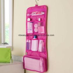 Hängendes Toilettenartikel-Beutel-u. Kosmetik-Organisator - großes, transparentes u. leichtes Esg10264