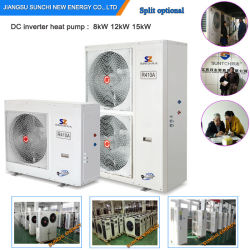 Evi Tech. -25cの冬の床暖房120~350sqのメートル部屋12kw/19kw/35kwの分割された熱交換器の屋内空気ソースヒートポンプのReviewheatポンプEviの小型分割