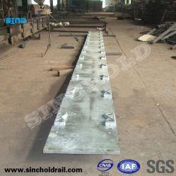 La consolidación de la fundación de las placas de acero para grúas