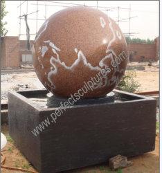Fontana di acqua girante della sfera della sfera del granito di marmo di pietra del giardino per Fengshui (SF-B100)