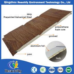 Revêtement thermique en métal, matériaux de construction, de panneaux muraux en 3D, panneau métallique de matériaux de PU