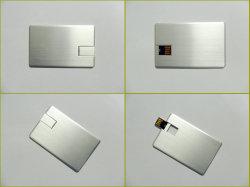 맞춤형 브러시드 메탈 알루미늄 합금 카드 USB 플래시 드라이버 메모리 광고용 명함 USB