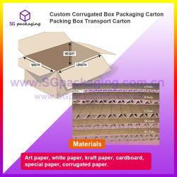 Caja de cartón corrugado personalizado embalaje caja de embalaje de cartón de transporte
