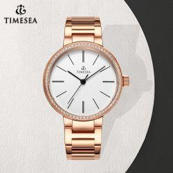 Horloge van de Gift Diamant van de bedrijfs het Eenvoudige van de Manier Elegante voor Dames 71335