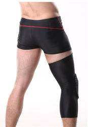 最も新しい1PCSバスケットボールの膝パッドの大人の膝頭のフットボールのニーブレースサポート足の袖の膝の保護装置の子牛の圧縮