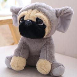 パグのかわいい着席動物犬の柔らかく柔らかいおもちゃのプラシ天