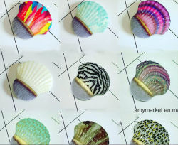 Новых красивых красочных по выращиванию брюхоногих моллюсков косметический Foundation щетки 12 стилей