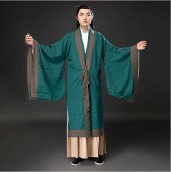 フィルムTV古代中国の衣類の独特の味の歌の明王朝の人の綿の麻のHanfuの大臣の道教徒の衣類学者パフォーマンス衣裳