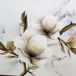 大きい手塗りの花のキャンバスの壁の芸術の現代油絵の現代的な装飾のアートワーク(30X 40インチ) GF-P19052797