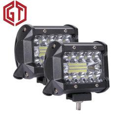 مصباح تشغيل LED للسيارة بقدرة 120 واط وبمقاس 4 بوصات لمصباح القيادة شاحنة ذات قارب غير ممهد شاحنة الدفع الرباعي الدفع الرباعي ضوء الضباب بجهد 12 فولت مصباح أمامي لقرب LED الخاص بـ ATV