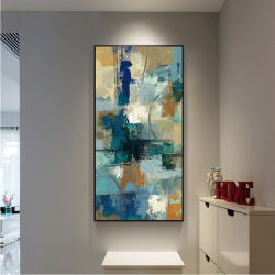 Decoração de parede moderno Galpão de pintura a óleo arte abstracta imprime