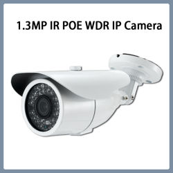 1.3MP WDR IP Poe IR Outdoor Bullet caméra de sécurité CCTV