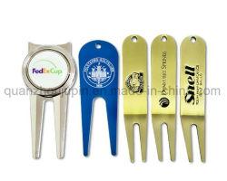 Promoção de metal personalizado criador de uma bola de golfe Divot Tool