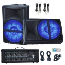 مضخم صوت مضخم صوت نشط ومحمول بتقنية Bluetooth® PA مع جهاز مزج الطاقة الكهربائية (Mixer EQ)
