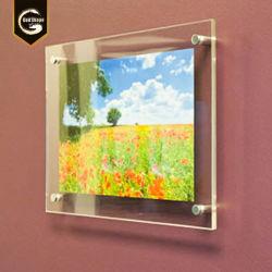 Стены оформлены зубного налета Настенный дисплей акриловый изображение рамка для фотографий