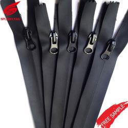 Chiusura lampo di nylon del migliore metallo impermeabile su ordinazione poco costoso della Cina per la tenda del vestito di immersione subacquea del sacchetto