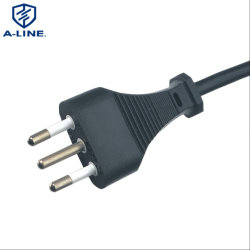 Aislamiento de PVC de 3 pines de Italia extensión estándar de cable de alimentación AC