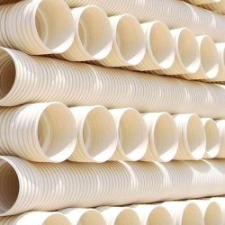 이중벽 골판지 PVC 하수관 식물 Sn4 블랙 ID200mm 플라스틱 튜브