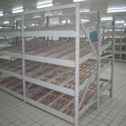 Industriales de Alta Calidad laminado de acero estantes estanterías Carton Flow Rack