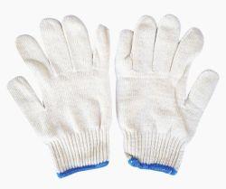 Jauge 13 Gants tricot de coton blanc pour gants de sécurité au travail