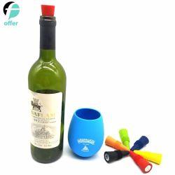 Remplacement de bouteille de boisson d'étanchéité en silicone avec poignée en haut pour Cork pour garder notre vin au frais