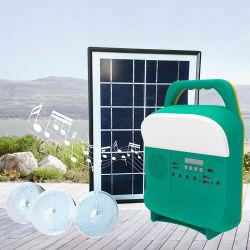 Solar 5W Radio con Bluetooth/Sistema de carga solar portátil con radio FM decoración luz del amanecer Global
