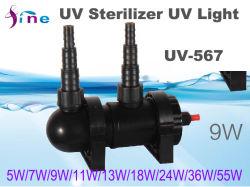 L'eau Lampe clarificateur ultraviolet Filtre avec tube de la lumière UV 9 W