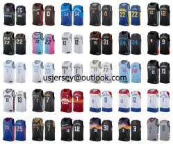 Оптовая торговля дешевые 2021 Новый город прибытия Edition N-B-a баскетбольная команда Apparels футболках NIKEID