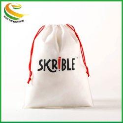 安い印刷のFoldable非編まれた綿のドローストリング袋